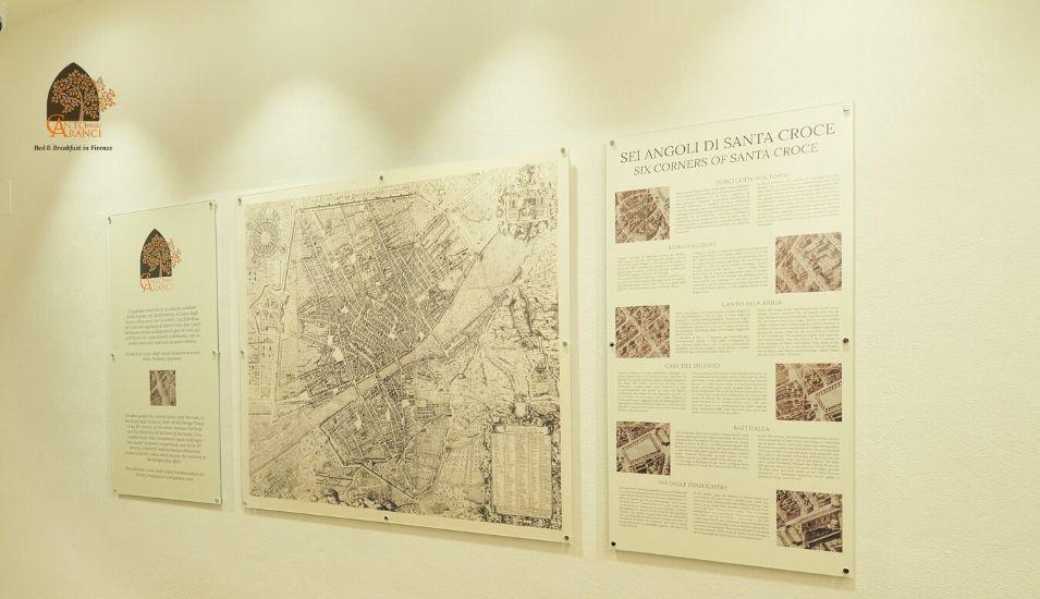 mappa B&B Firenze Canto degli Aranci